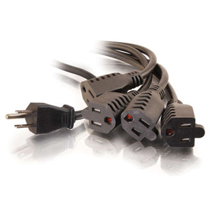 C2G 1-to-4 Power Splitter Cable 29808