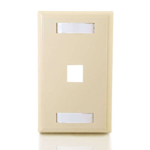 C2G 1 Socket Keystone Network/Multimedia Faceplate 03710