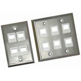 C2G 1 Socket Multimedia Keystone Faceplate 37093