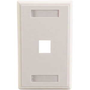 C2G 1 Socket Keystone Network/Multimedia Faceplate 03410