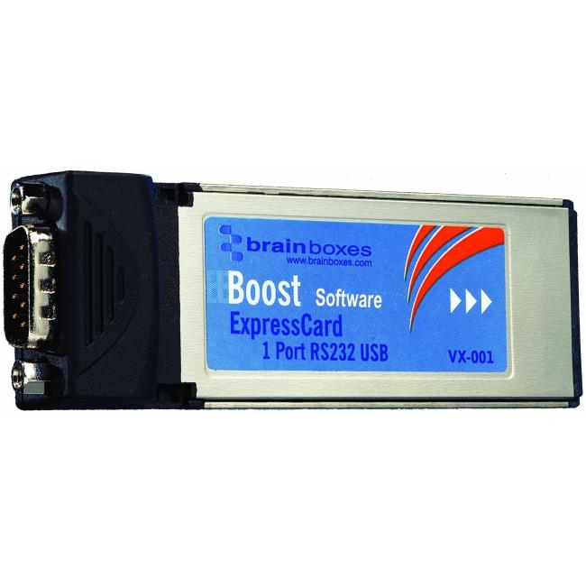 Brainboxes 1 Port RS-232 Serial Express Card VX-001-001 VX-001