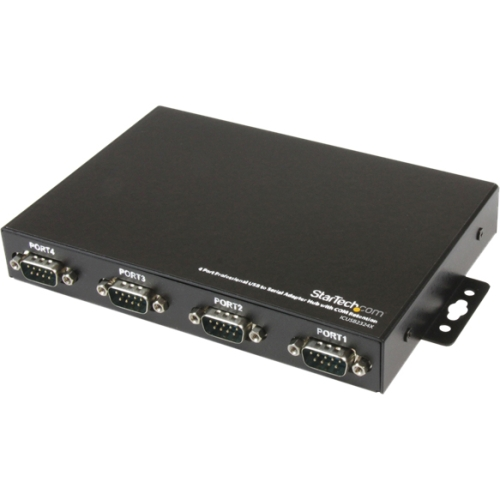 StarTech.com 4 Port Professional USB to Serial Adapter Hub with COM Retention ICUSB2324X