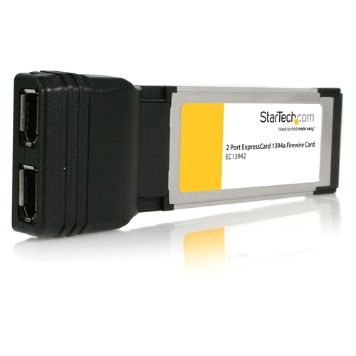 StarTech.com 2 Port ExpressCard IEEE-1394 Firewire Card EC13942