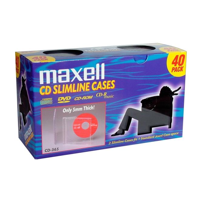 Maxell CD-365 Slimline Jewel Cases 190074