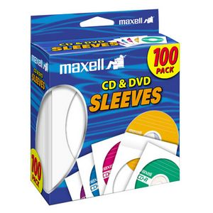 Maxell CD/DVD Sleeves (100-Pack) 190133 CD-402