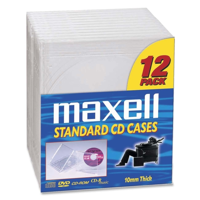 Maxell CD/DVD Jewel Cases CD-360 190069