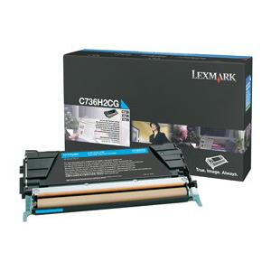 Lexmark Cyan High Yield Toner Cartridge C736H2CG