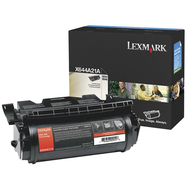 Lexmark Black Toner Cartridge X644A21A
