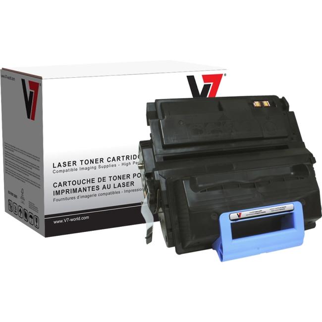 V7 Black Toner Cartridge For HP LaserJet 4345 MFP, 4345X MFP, 4345XM MFP, 4345XS V745A