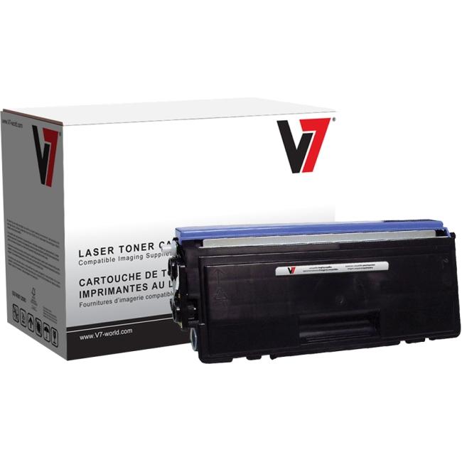 V7 Black Toner Cartridge (High Yield) For Brother DCP-8060, DCP-8065DN; HL-5240 V7TN580