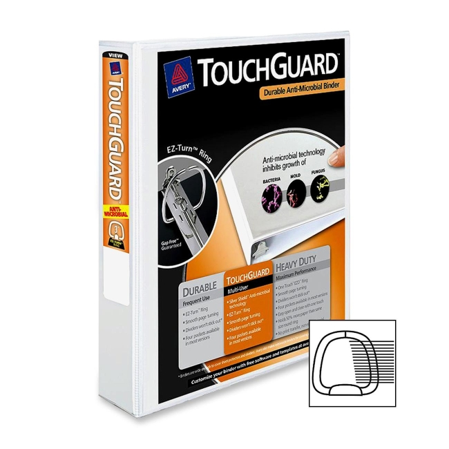 Avery TouchGuard Ring Binder 17144 AVE17144 77711