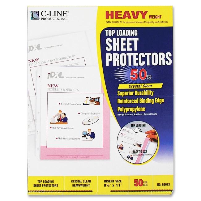 C-Line Polypropylene Top Loading Sheet Protector 62013 CLI62013