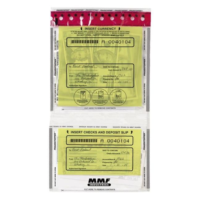 MMF Tamper-Evident Twin Deposit Bag 2362500N20 MMF2362500N20