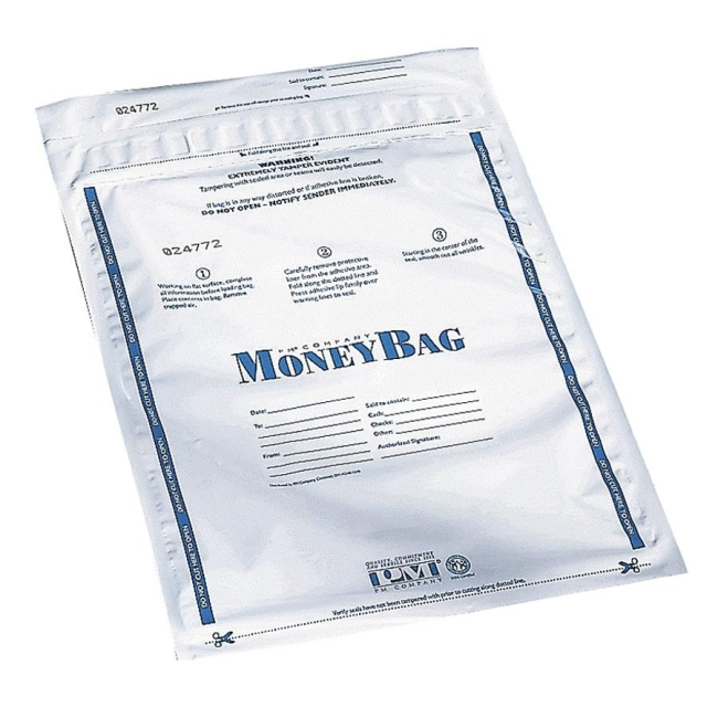 PM SecurIT Plastic Disposable Deposit Money Bag 58001 PMC58001