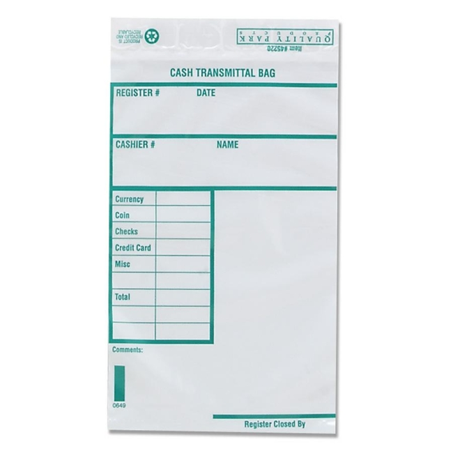 Quality Park Cash Transmittal Bag with Redi-strip 45220 QUA45220
