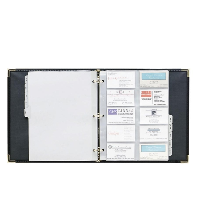 Samsill Classic Vinyl Business Card Binder 81080 SAM81080