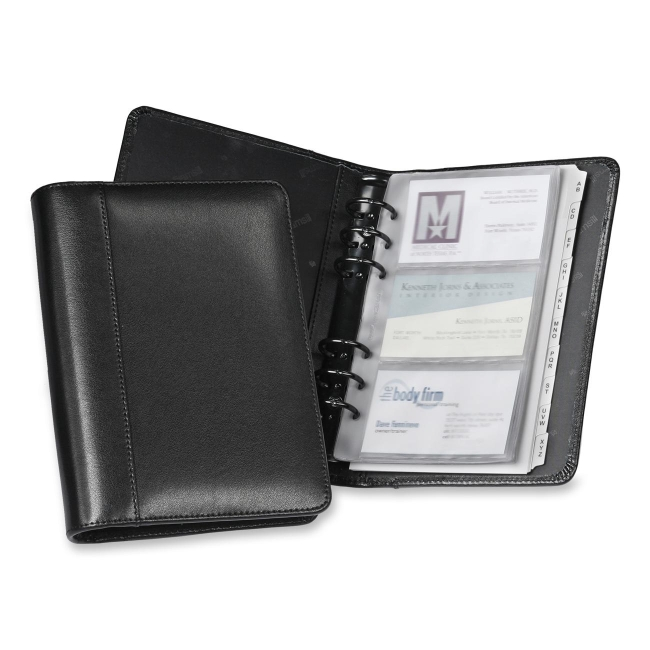 Samsill Regal Leather Business Card Binder 81270 SAM81270