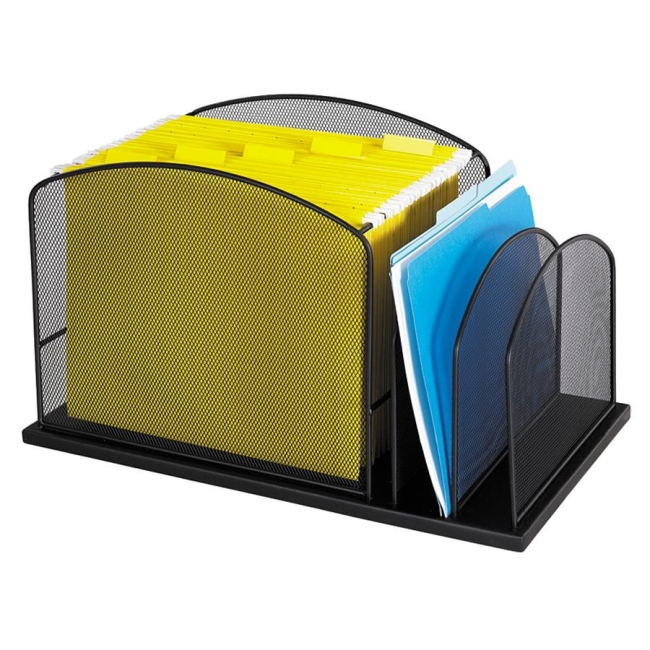 Safco Mesh Hanging File Desk Organizer 3259BL SAF3259BL