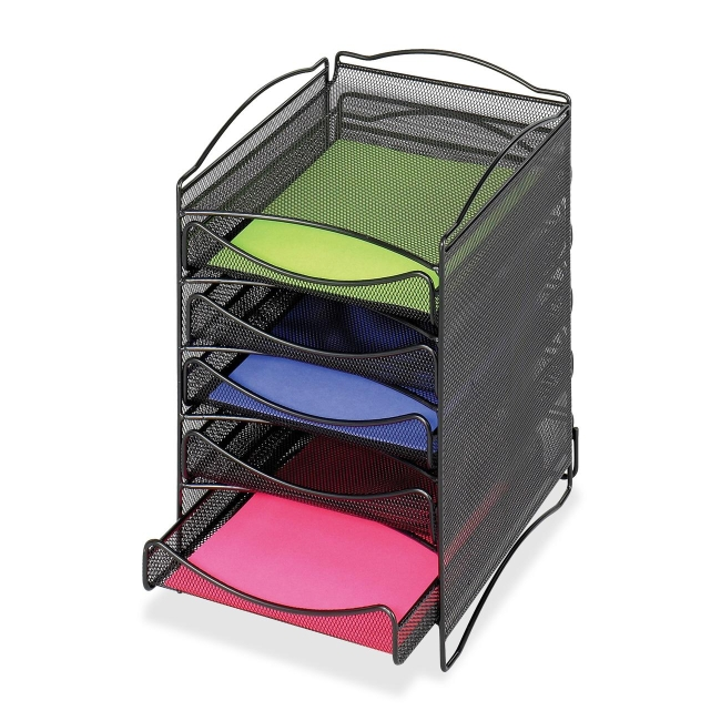 Safco 5 Drawer Mesh Desktop Organizer 9432BL SAF9432BL