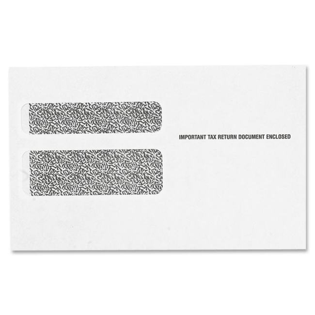 TOPS W-2 Form Double Window Envelope 2219LR TOP2219LR