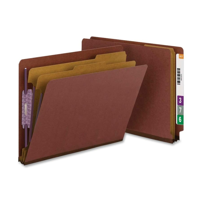 Smead End Tab Classification Folder with Divider 26855 SMD26855