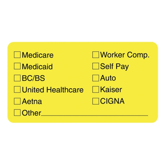 Tabbies Medical Office Insurance Label 02940 TAB02940 MAP2940