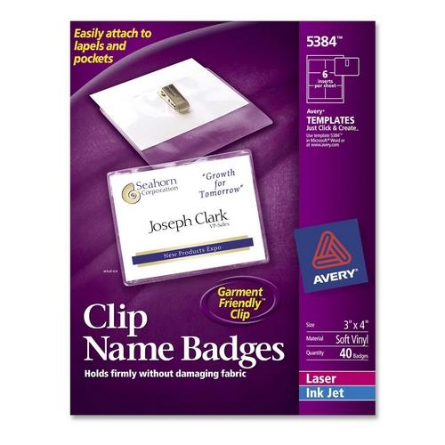 Avery Name Badge Kit 5384 AVE5384