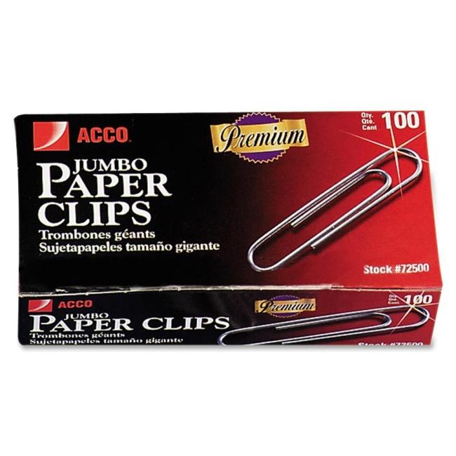 ACCO Non-Skid Paper Clip 72510 ACC72510 A7072510G