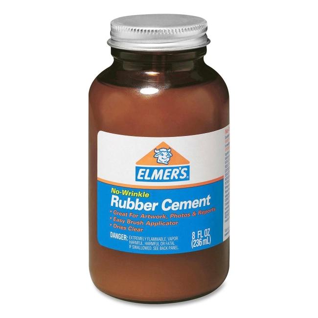 Elmer's 8 oz Bottle with Brush Rubber Cement 231 EPI231