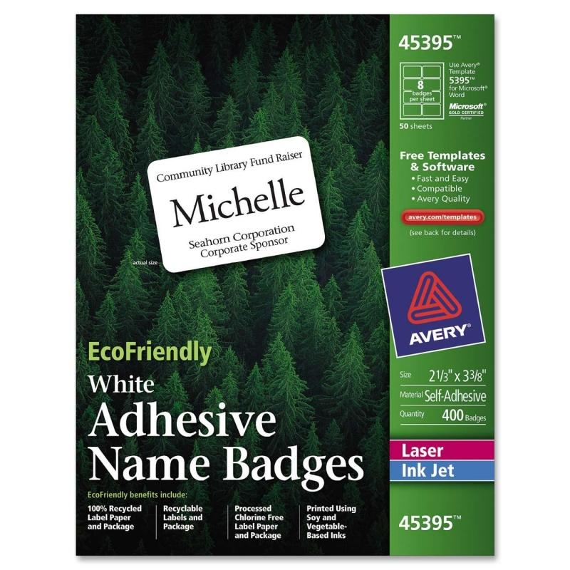 Avery EcoFriendly Name Badges 45395 AVE45395