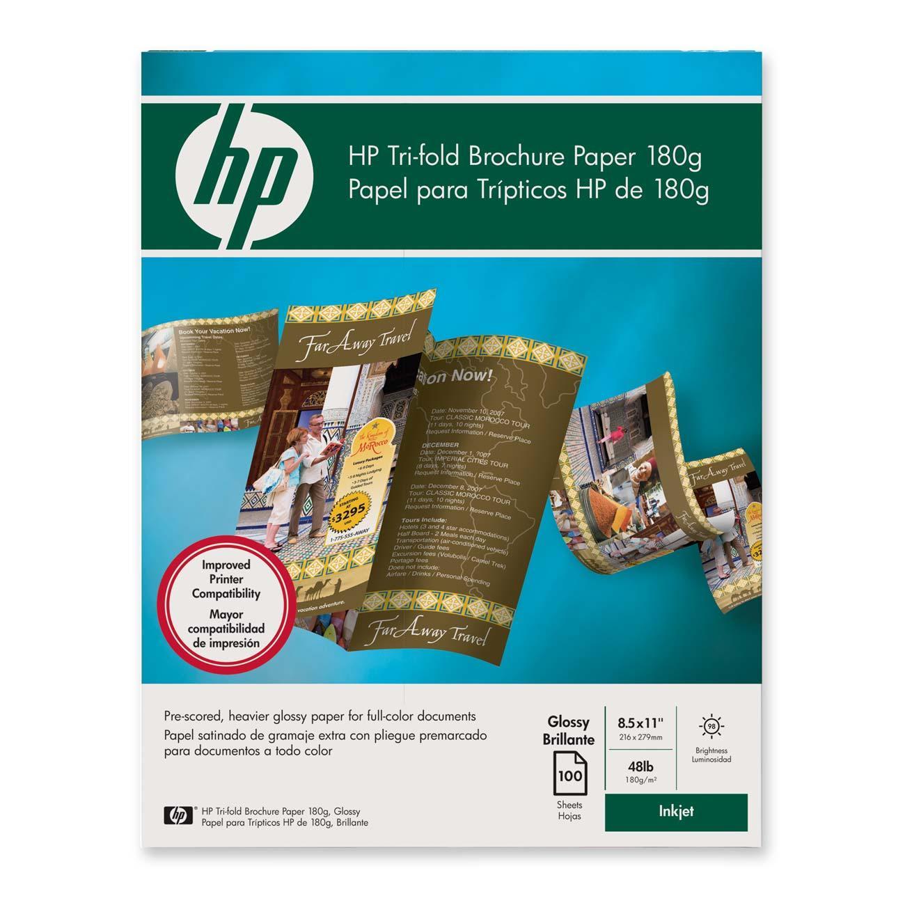 Hp Tri Fold Brochure Paper C7020a Hewc7020a