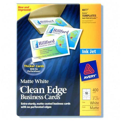 Avery InkJet Clean Edge Business Card 8877 AVE8877