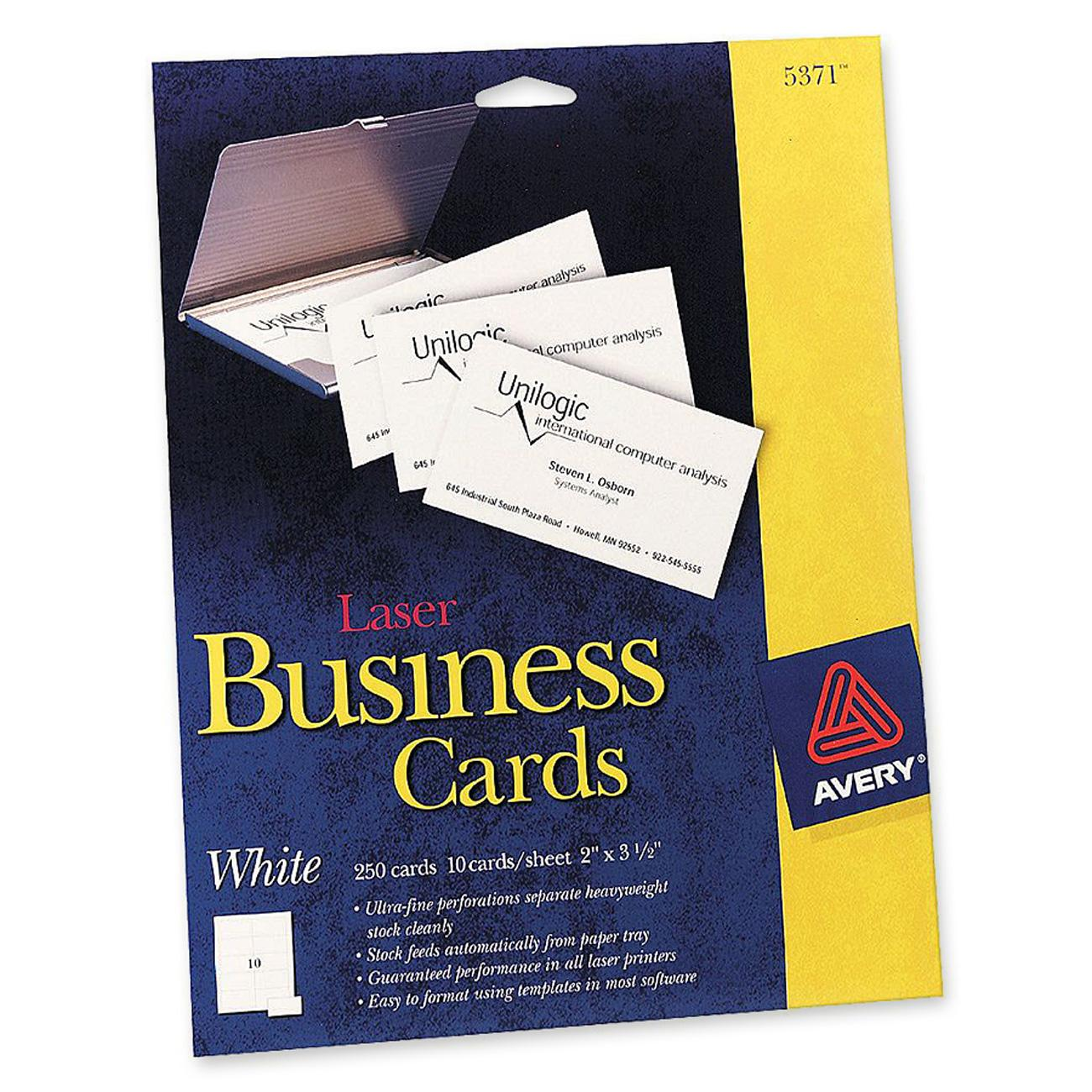 Laser perforated business card avery dennison 5371 ave5371 colourmoves
