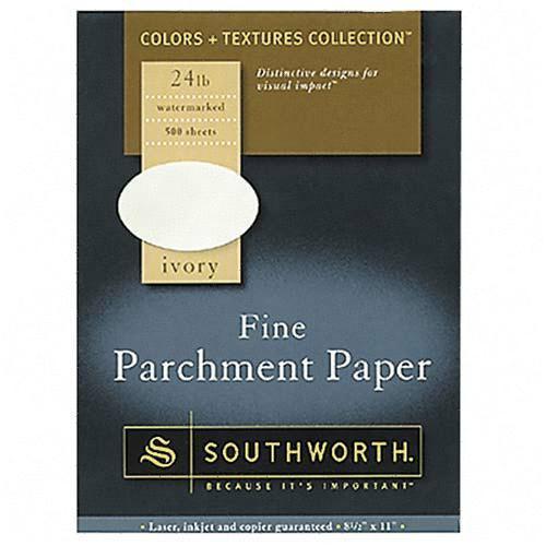 Southworth Company, Agawam, MA Fine Parchment Paper 984C SOU984C