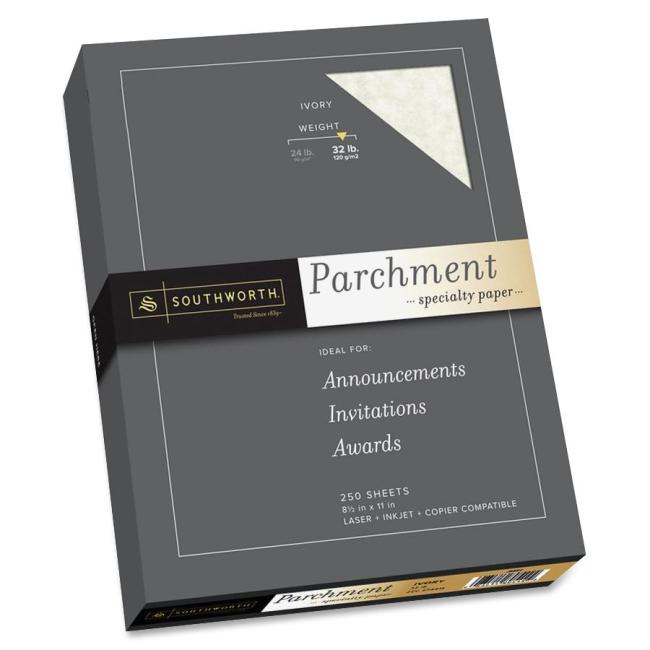 Southworth Company, Agawam, MA 32lb Parchment Specialty Paper J988C SOUJ988C