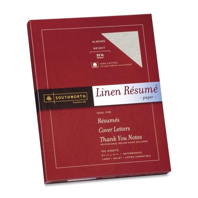 Southworth Company, Agawam, MA Linen Resume Paper RD18ACFLN SOURD18ACFLN