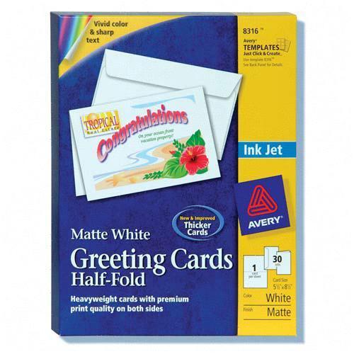 Avery Half-Fold Greeting Card 8316 AVE8316