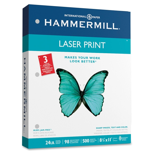 Hammermill 3-Hole Punched Laser Print Paper 107681 HAM107681