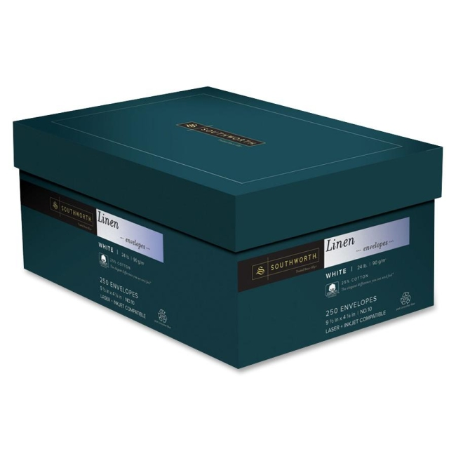 Southworth Company, Agawam, MA 25% Cotton Linen Envelopes J55410 SOUJ55410