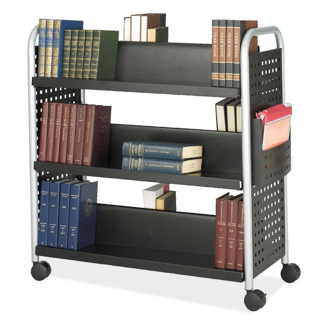 Safco Scoot Double Sided Book Cart 5335BL SAF5335BL
