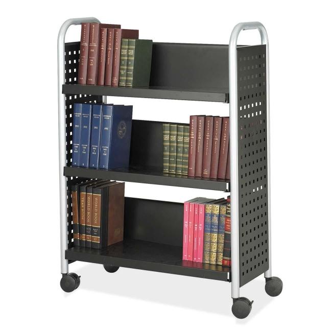 Safco Scoot Single Sided Book Cart 5336BL SAF5336BL