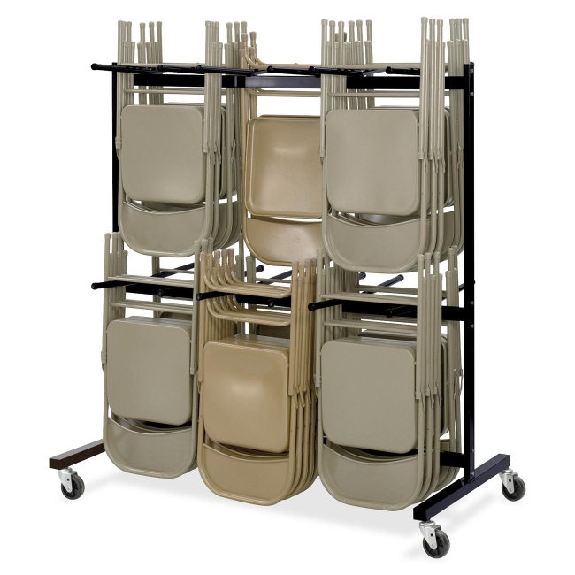 Safco Double Tier Chair Cart 4199BL SAF4199BL