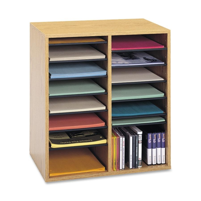 Safco 16 Compartments Adjustable Shelves Literature Organizer 9422MO SAF9422MO