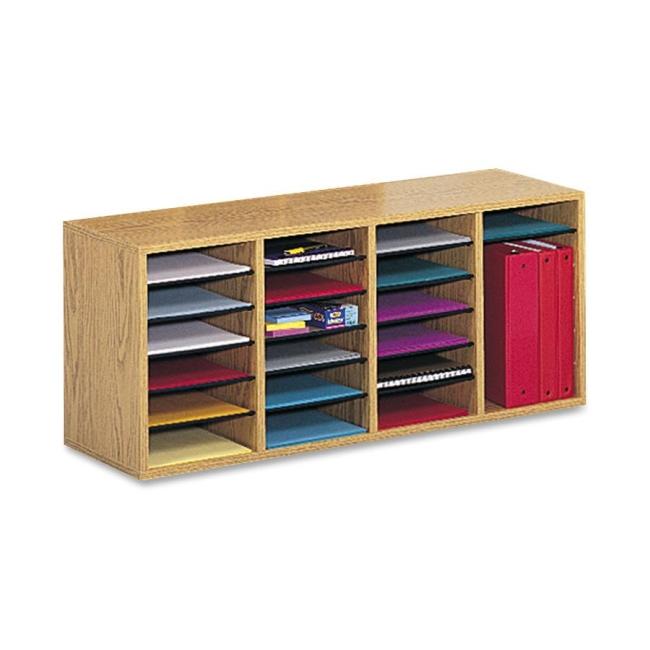 Safco 24 Compartment Adjustable Shelves Literature Organizer 9423MO SAF9423MO