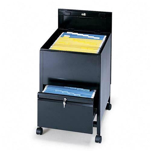 Safco Rollaway Mobile File Cart 5365BL SAF5365BL