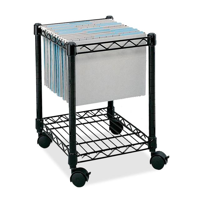 Safco Compact Mobile File Cart 5277BL SAF5277BL