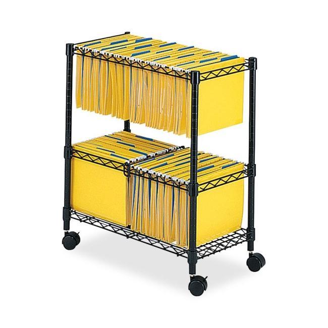 Safco 2-Tier Rolling File Cart 5278BL SAF5278BL