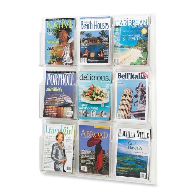 Safco Nine Magazines Literature Display Rack 5603CL SAF5603CL
