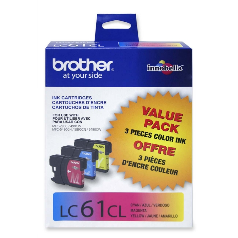Brother Tri-color Ink Cartridge LC613PKS BRTLC613PKS