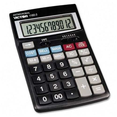 Victor Technology AntiMicrobial Commercial Portable Calculator 11803A VCT11803A